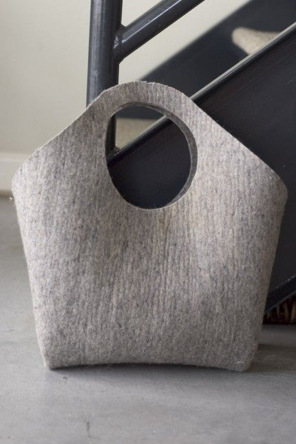 Industrial Wool Felt Handbag by Izzie Blow