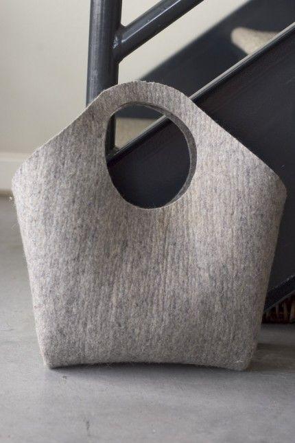 Industrial Wool Felt Handbag by Izzie Blow