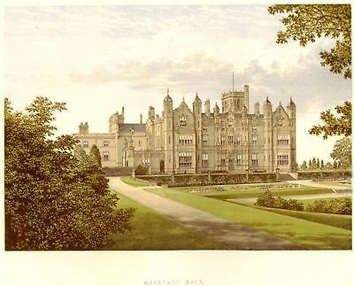Morris's County Seats - Castles - MEREVALE HALL - Chromolithograph