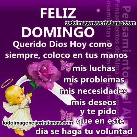 Imágenes cristianas feliz domingo querido Dios