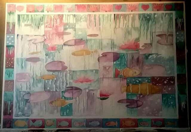 Lilie pond. Watercolour