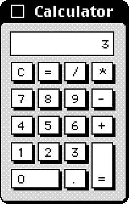 Mac OS 9, Calculator