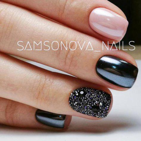 black-nails-cool-ideas-chrome-powder-cav