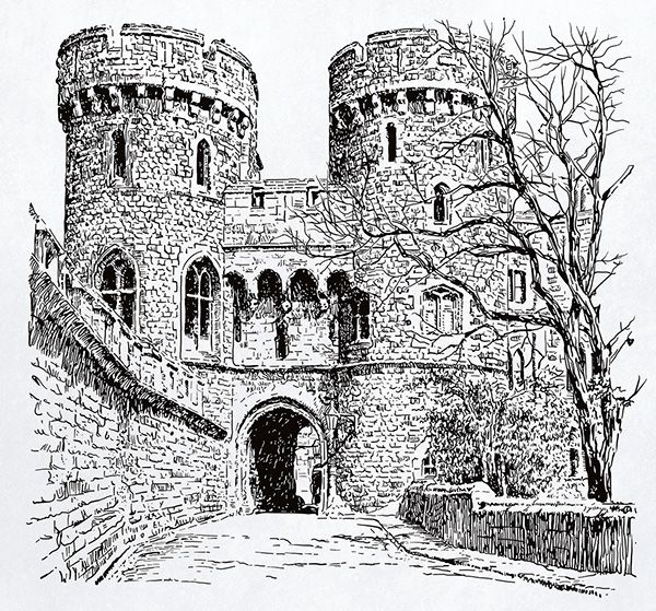 Windsor, Norman Gate (vector drawing) on Behance