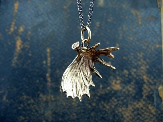 Bronze Shed Moose Antler Pendant. I want!