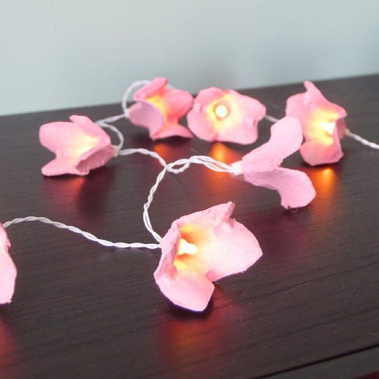 Learn how to make your own flower fairy lights out of egg cartons!