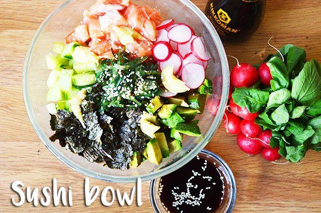 sushi bowl sushi salade! Heb je even geen zin in sushi rollen en ben je gek op sushi? Dan is dit zeker een gerecht om uit te proberen!