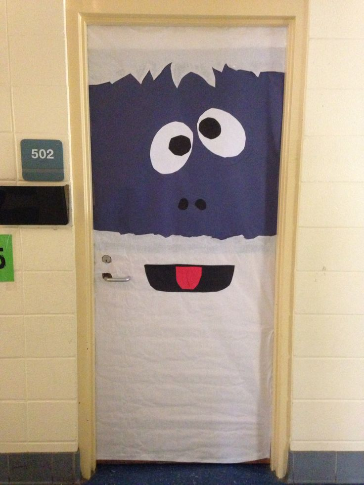 Bumble The Abominable Snowman Classroom Door Decoration.