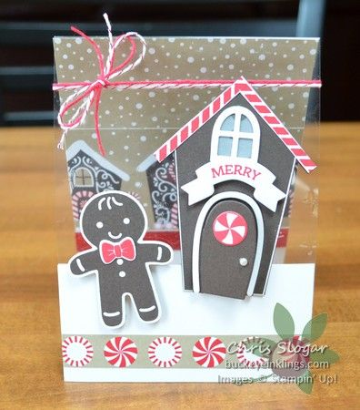 Window Sheet Clear Card Front with Stampin' Up! Home Sweet Home Bundle and Cookie Cutter Christmas