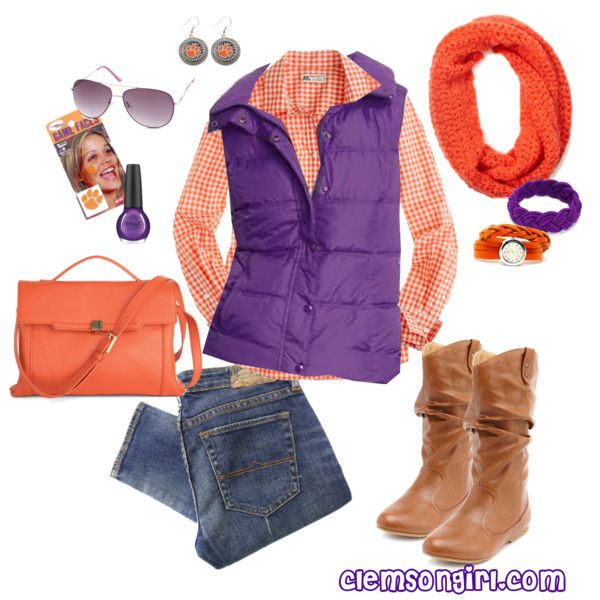 """Clemson Gameday Look - Bowl Game Beauty"" by clemson-girl on Polyvore"