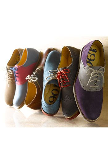 Brighten up your wardrobe with these colorful Oxfords. Works well with a simple tshirt and pair of neutral chinos or jeans. Put on a casual blazer and you're good to go. Up the ante with a pocket square, and you're a man out and about town!