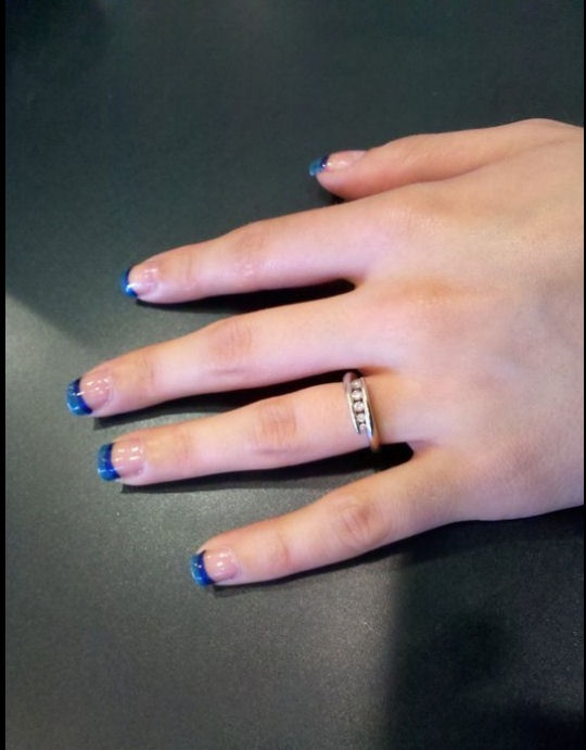 Best 20+ Blue french tips ideas on Pinterest