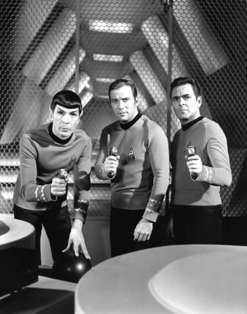 Spock, Capt Jim and Scotty
