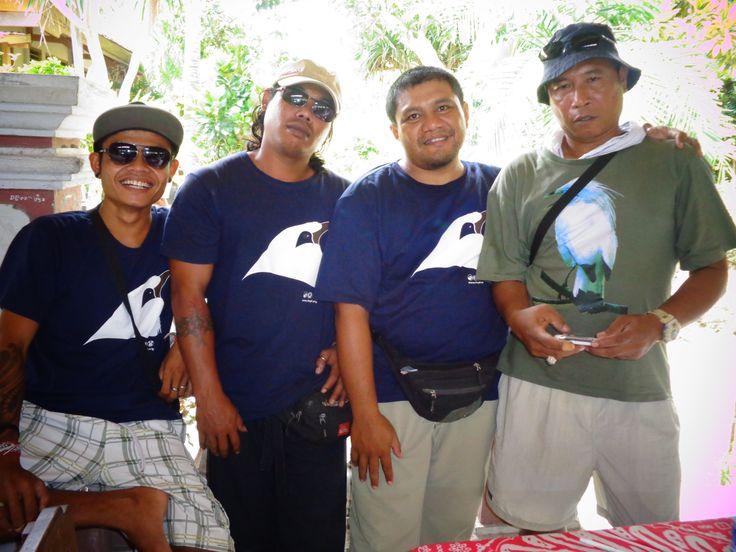 FNPF staffs on Nusa Penida and our proud volunteers