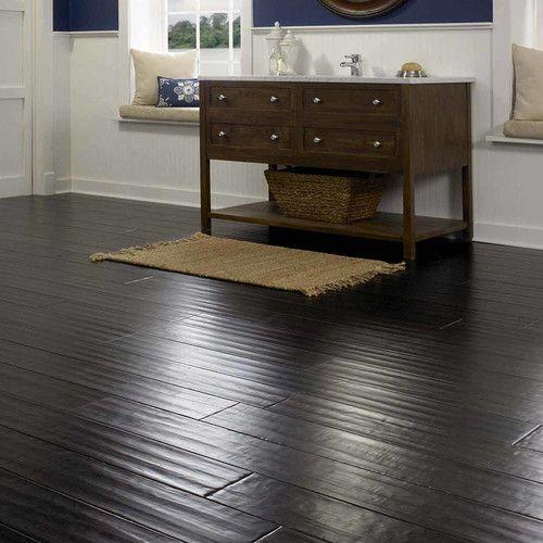 "Found it at Wayfair - Sable 3-47/50"" Engineered Bamboo Hardwood Flooring in Black"