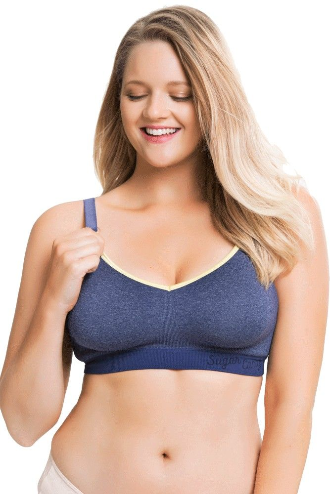 3063c721e26 Sugar Candy Crush Fuller Bust Seamless Nursing Bra (Denim)