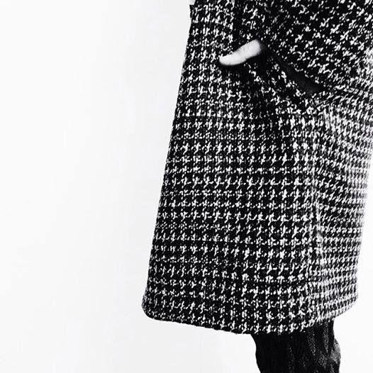 Vintage Coat: fit over wool, why pied poule, dropped shoulders and wide lapels male to name the origin 60s / 70s of the head.