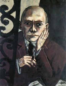 Self portrait in a bar (Max Beckmann, 1942, Private collection)