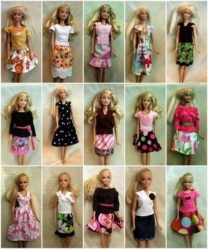 Barbie clothes - free patterns! #free #sewing #toys #tutorials