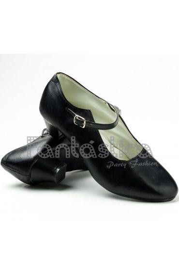 Zapatos para Flamenco Color Negro - Tallas para Niña y Mujer