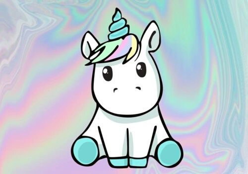 Imagen de unicorn, cute, and rainbow