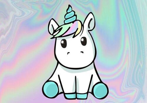 Imagen de unicorn, cute, and rainbow