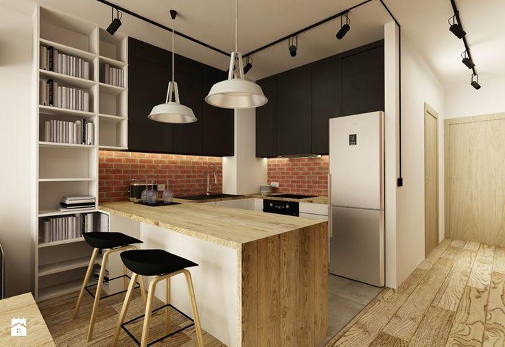 SOFT INDUSTRIAL NA BEMOWIE - Mała kuchnia, styl industrialny - zdjęcie od design me too