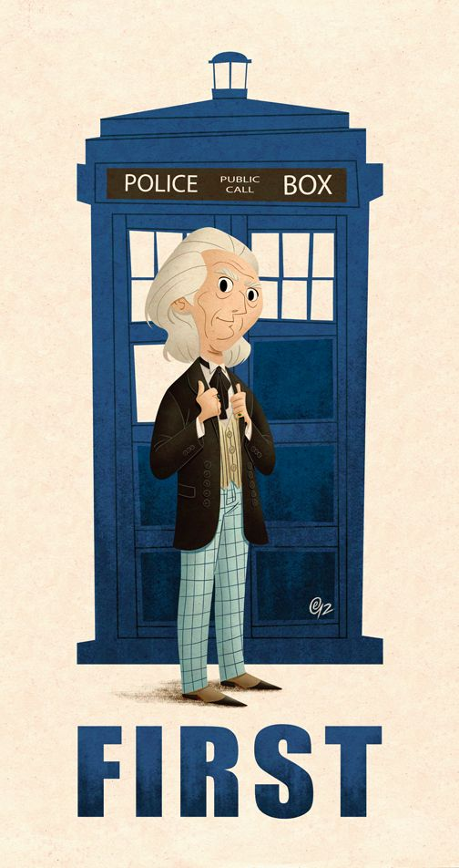 A gallery of Doctor Who fan art; all 11 Doctors, the TARDIS and a few generations of sonic screwdrivers too.