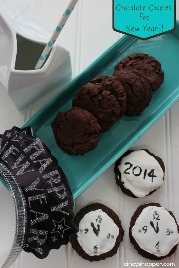 Chocolate New Years Cookies- Oh Yes Chocolate will start the New Year off just right!