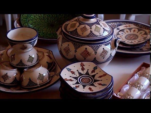 خديت اواني مغربية بامتياز من مدينة اسفي اجيو تشوفو وعطيوني أرائكم Glassware Tableware Decorative Jars