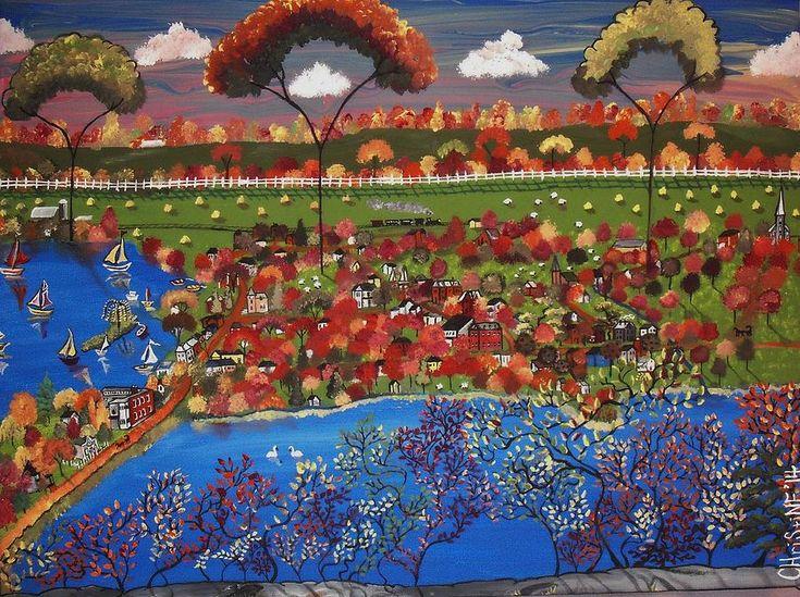 Westport Ontario Painting - Autumn In The Village by Christine Janeway
