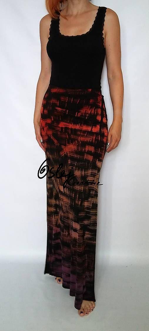 90129f4dc9b5 Maxi sukňa ručne farbená - Zľava   OslejCreative