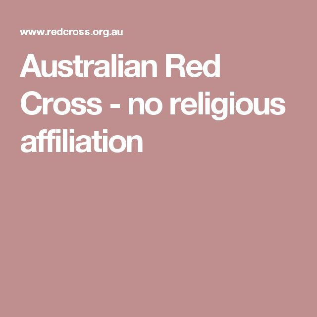 Australian Red Cross - no religious affiliation