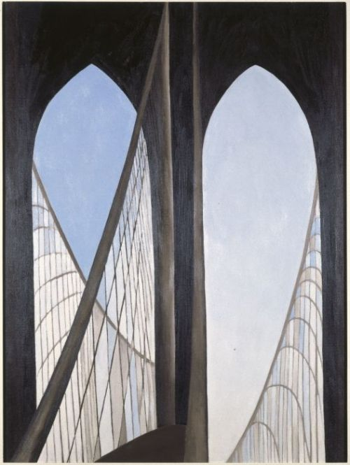 Love Georgia O'Keeffe's painting of the Brooklyn Bridge
