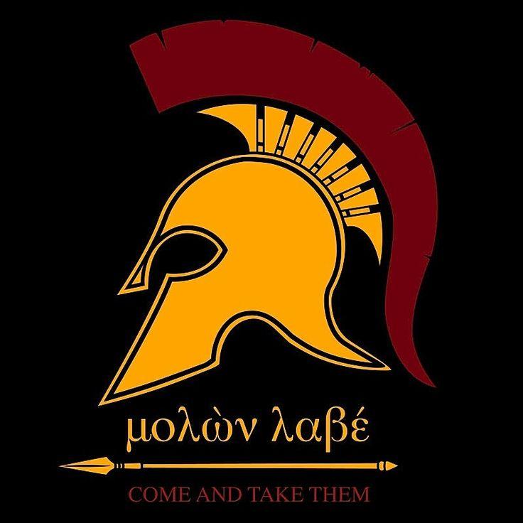 "Spartan MOLON LABE Decal - 3"" x 3"""
