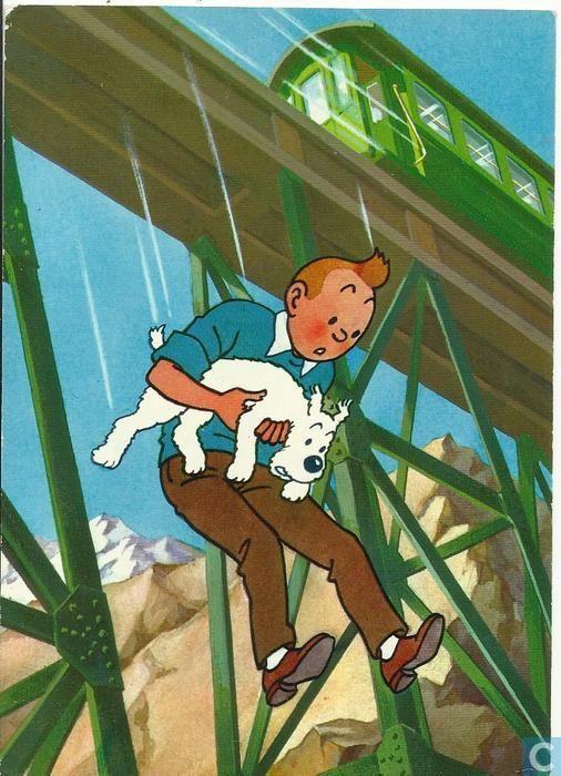 Carte postale - Arcueil - Tintin et le Temple du Soleil