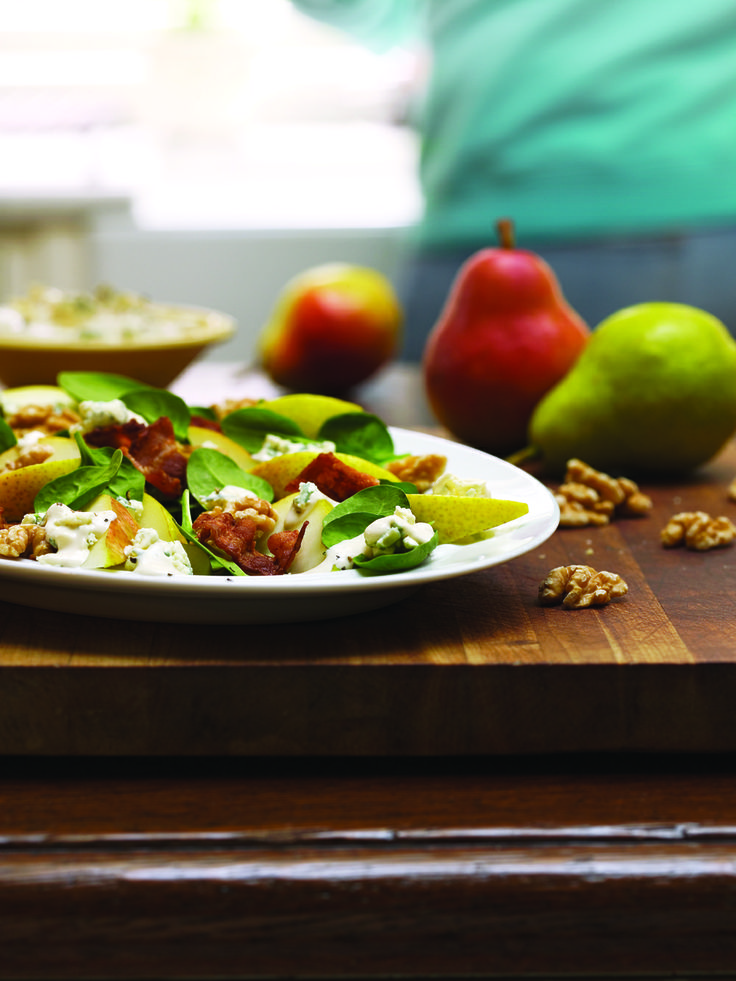 Pears are in season and a perfect addition to fresh spring salads!