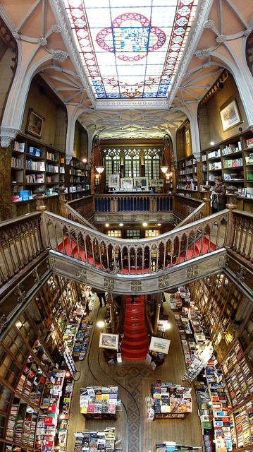 Places I want to visit: Livraria Lello & Irmão- Bookstore in Portugal. Is this Heaven?! So beautiful!