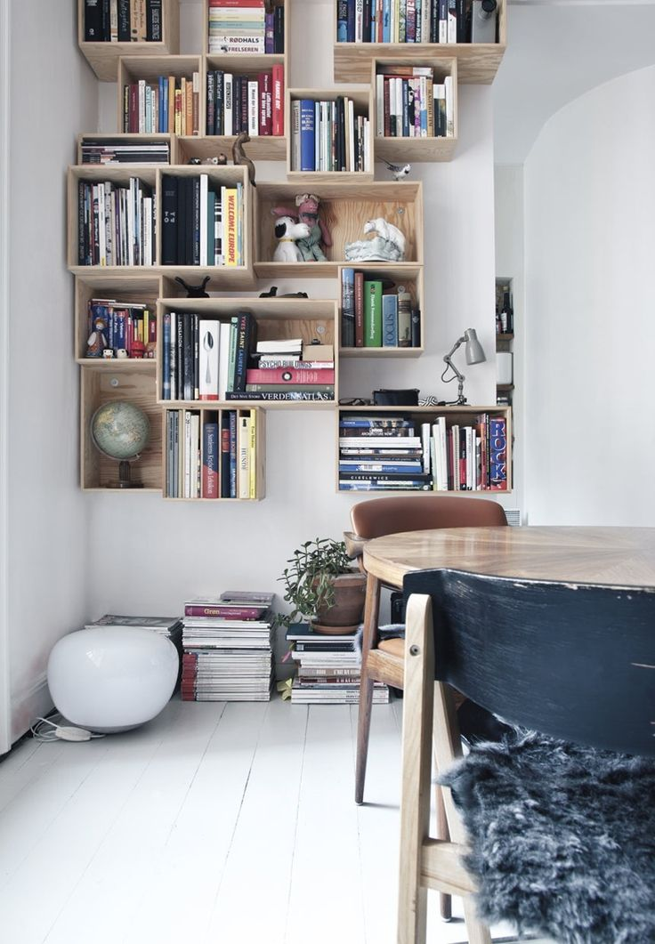 living room wall cabinets built%0A Built your own cool bookshelf from floor to ceiling with wooden bookcases
