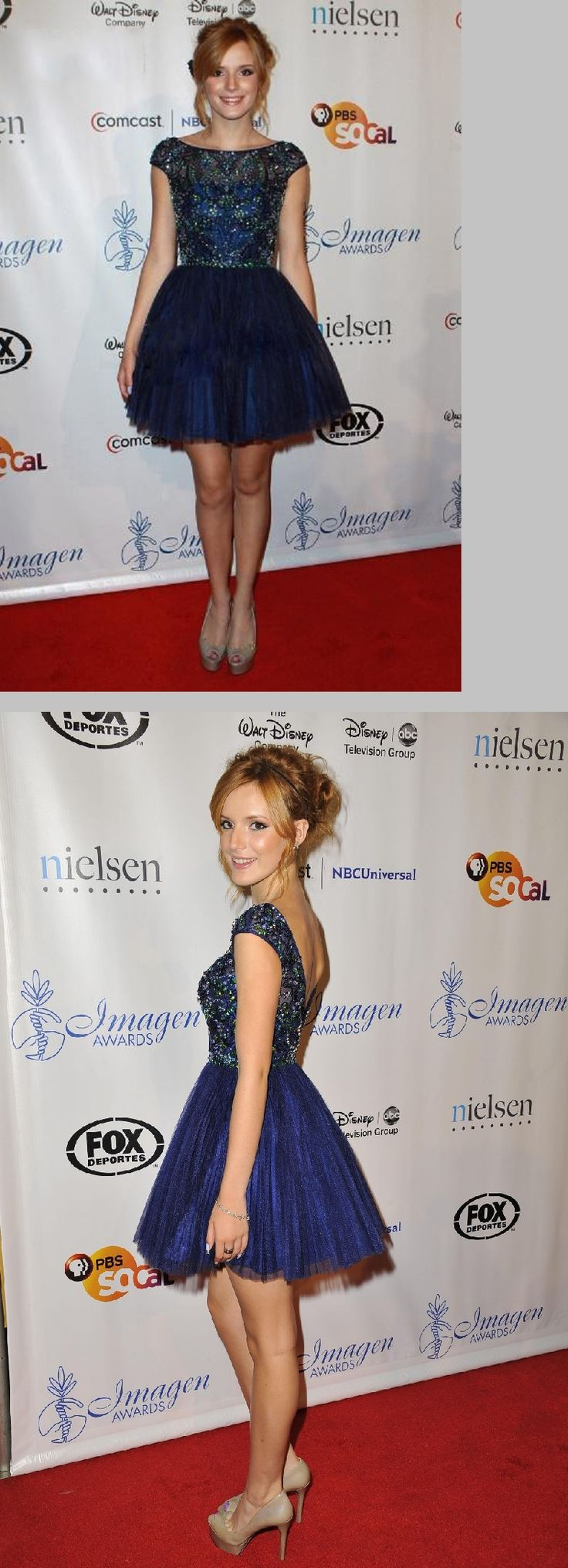 sparkling beaded a-line/princess short/mini navy blue tulle junior homecoming dress