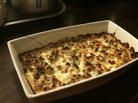 Mine favorittoppskrifter på Lavkarbo mat: Lavkarbo middag: Fløtegratinert blomkål med bacon