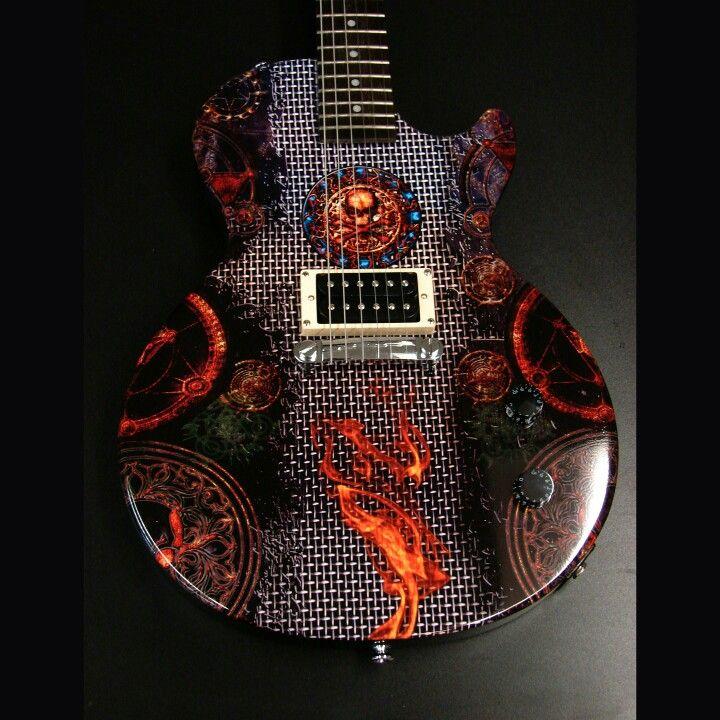 Wrapedge Com Guitar Skins Grid With Symbols 39 95 Brand Guitar Skins Custom Pickguards Drum Wraps Speaker Mesh Dimensio Custom Guitar Guitar Cool Guitar