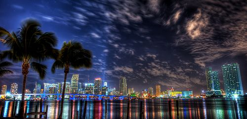 A Miami City view is as amazing as any skyline could ever get.