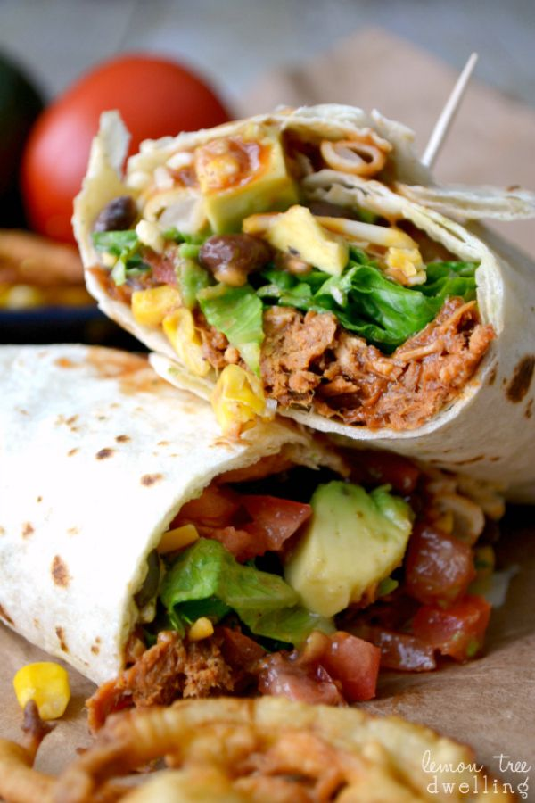 BBQ Ranch Chicken Wrap a la Cheesecake Factory!