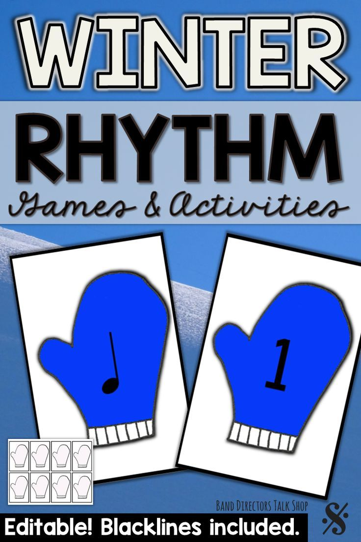 Winter Music Activities: Rhythm Mittens Game | Winter Music
