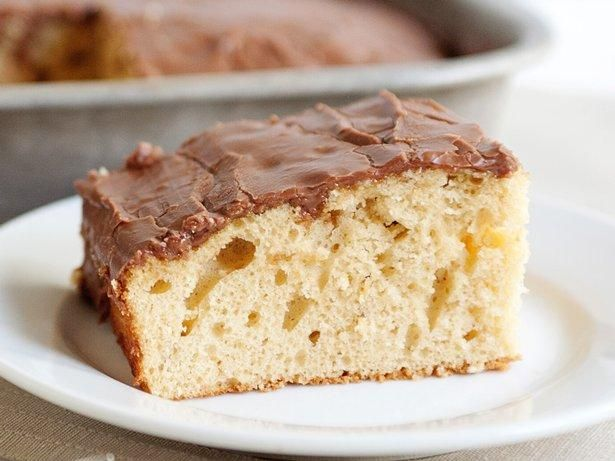 Peanut Butter Sheet Cake with Chocolate Frosting | Recipe