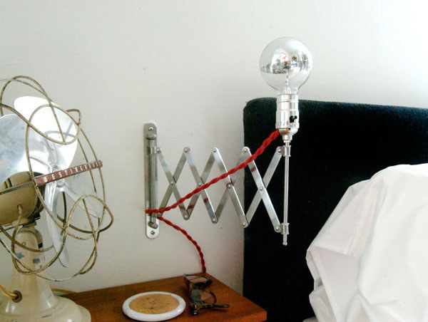 The extendable portion of the Fräck mirror is even more useful when you turn it into a light. | 33 Unexpected Things You Can Make With Ikea Products