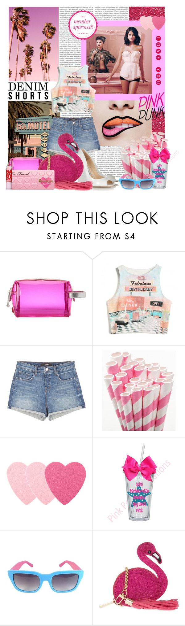 """""""The final cut: Denim shorts"""" by amethystes ❤ liked on Polyvore featuring Oris, Nine West, Retrò, J Brand, Sephora Collection, Kate Spade, Skinnydip, jeanshorts, denimshorts and cutoffs"""