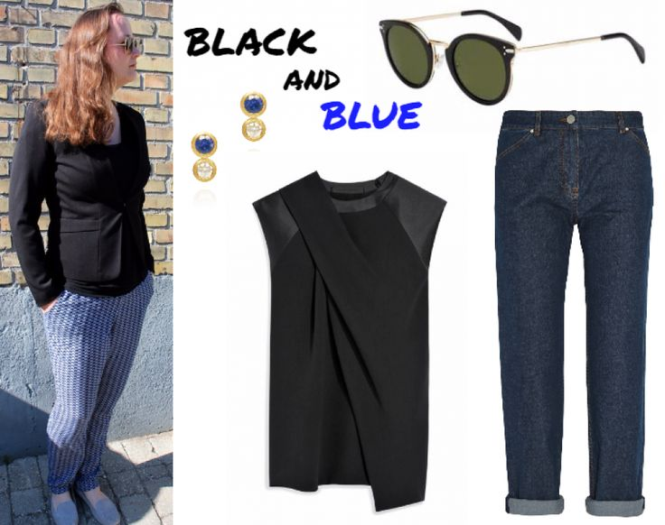 Black and blue streetstyle #hvisk #hviskstylist #hviskstyling