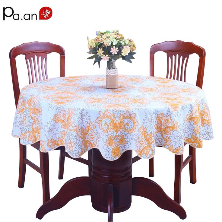 pastoral plastic tablecloth waterproof PVC floral printed round table cover home wedding decoration table  manteles para mesa #Affiliate